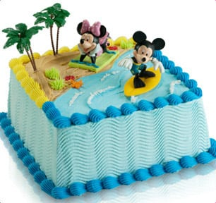 Ice Cream Cake Baskin Robbins Balloons Birthday Party Image