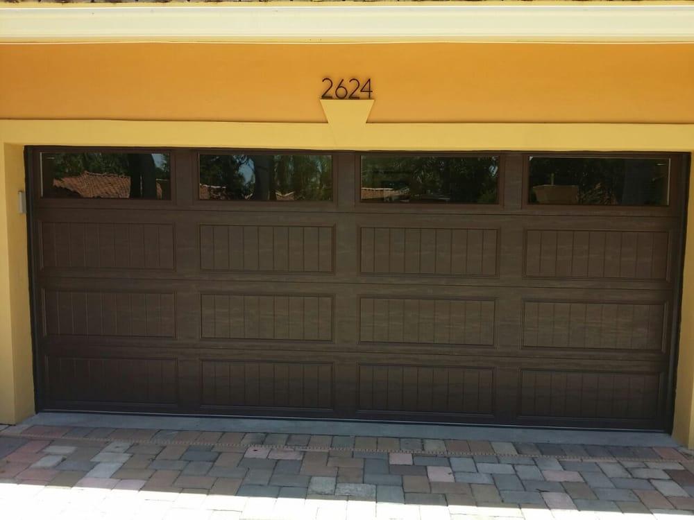 Brown Garage Doors With Windows. Photo Of Juliao Garage Doors   Miami  Lakes, Fl