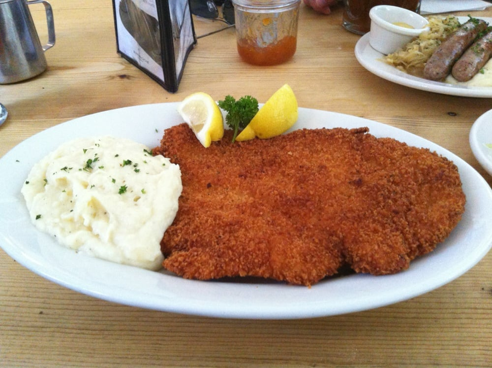 Organic chicken schnitzel with mashed potatoes - Yelp