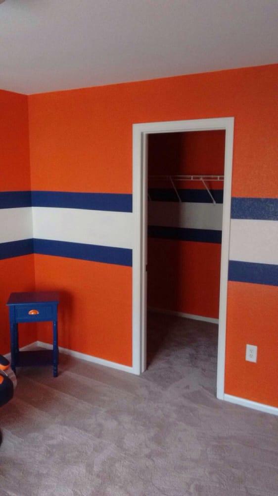 Denver Broncos room painted by my lead painter Sabine Byrd - Yelp