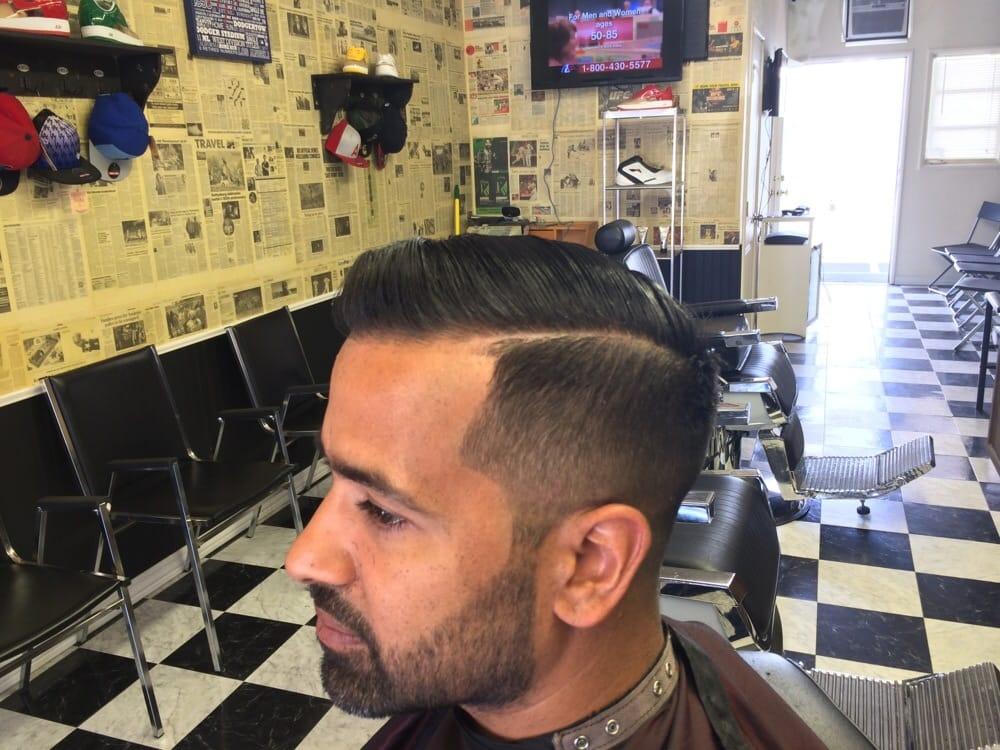 Bald Fade Combover Gentle Men S Haircut With Beard By Kd Yelp
