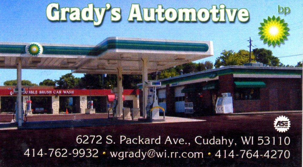 Grady's Automotive: 6272 S Packard Ave, Cudahy, WI