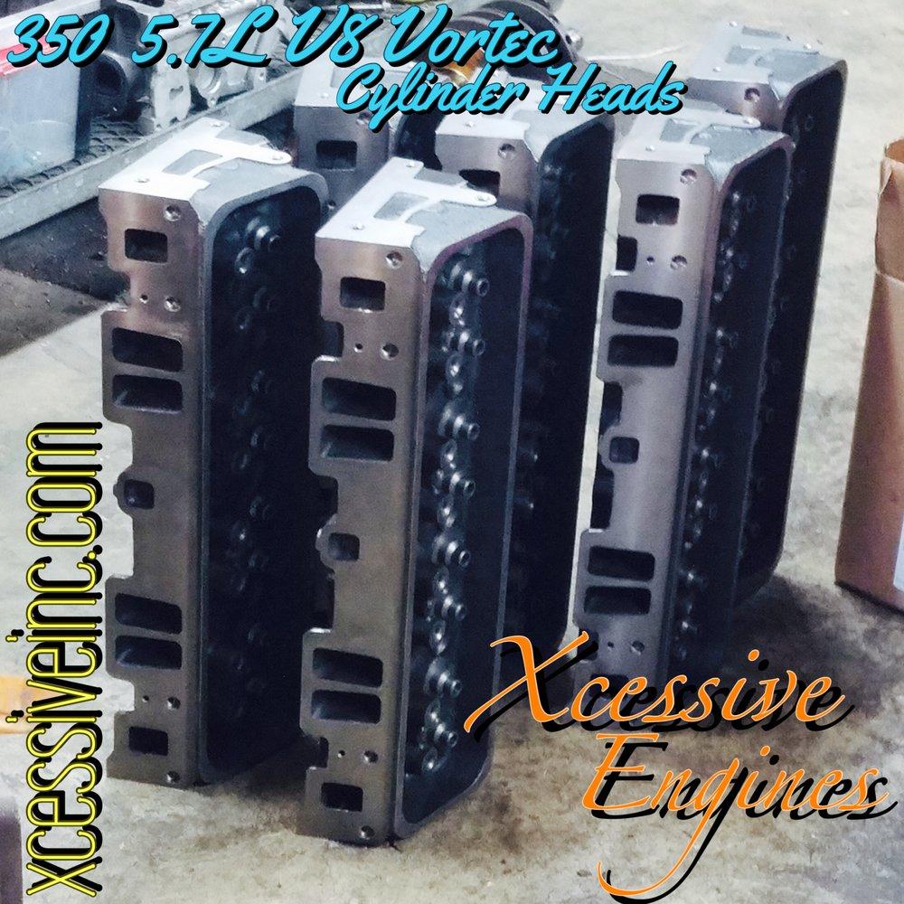 GM/GM Marine 350 5 7L V8 Vortec Cylinder Heads for