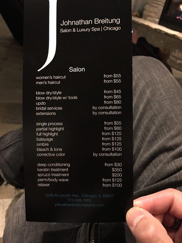 Johnathan breitung salon luxury spa lukket 22 for 1800 salon chicago