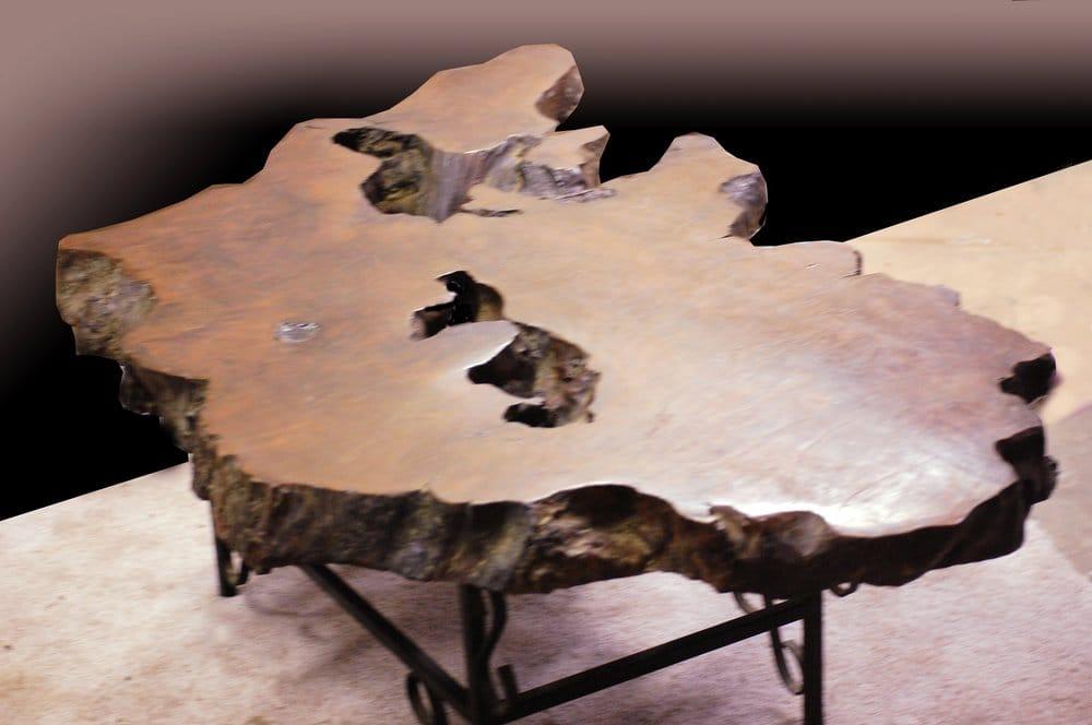 Natural wood chunk coffee table - Yelp