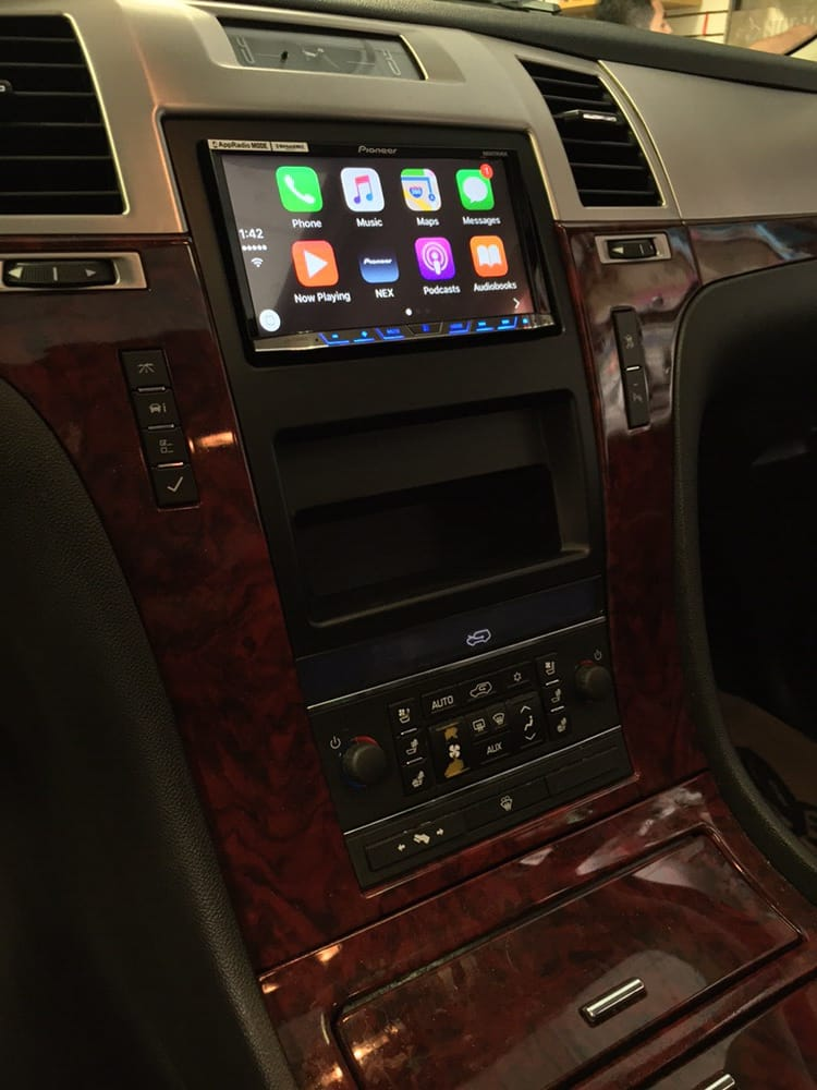 cadillac escalade upgraded to a pioneer apple carplay. Black Bedroom Furniture Sets. Home Design Ideas