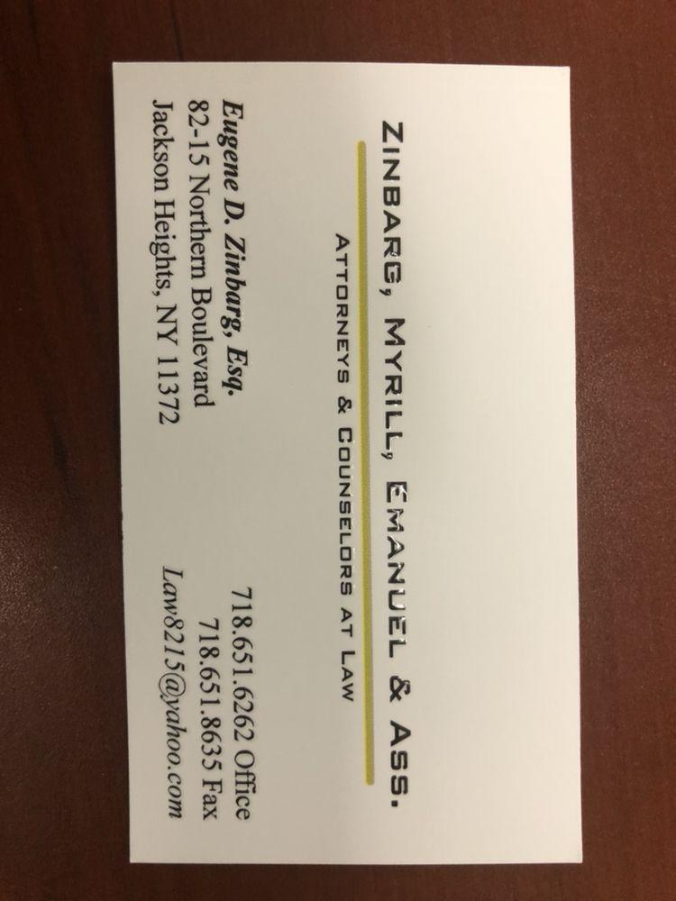 Zinbarg, Myrill & Associates, Law Firm | 82-15 Northern Blvd, Queens, NY, 11372 | +1 (718) 651-6262