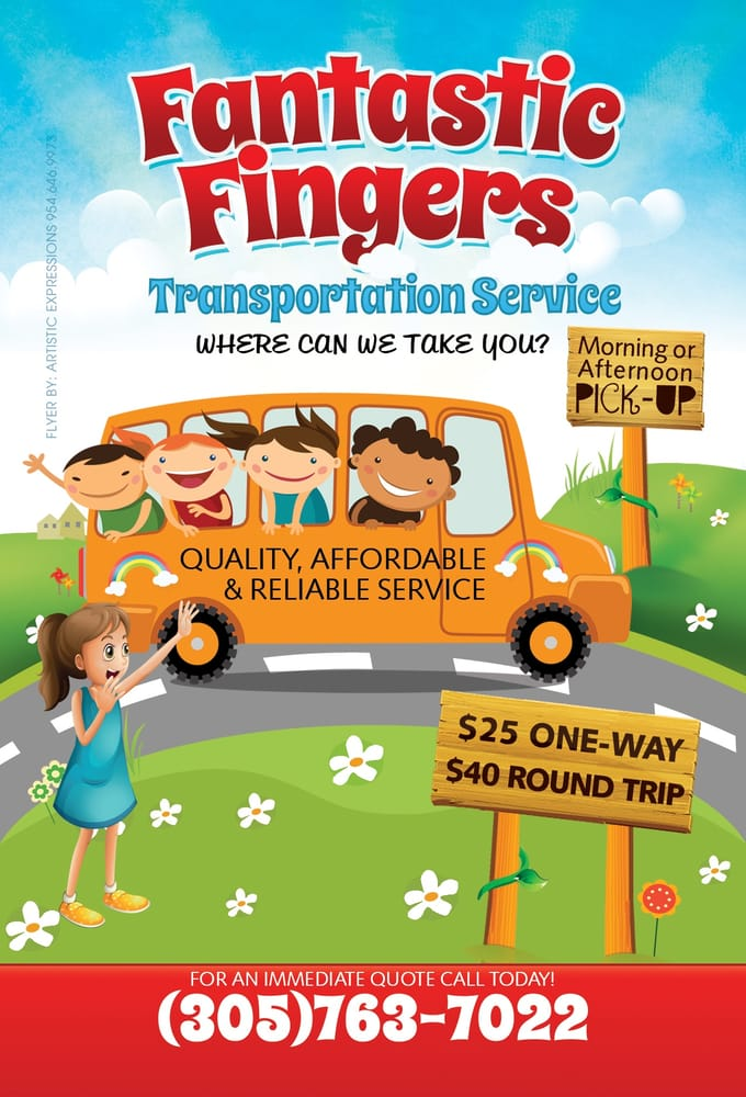Fantastic Fingers Transportation Service Buses Miami