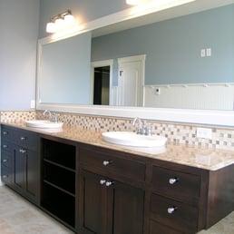 Photo Of Northwest Trends Of Spokane Inc   Spokane Valley, WA, United  States. Bathroom With Granite Countertops And Backsplash