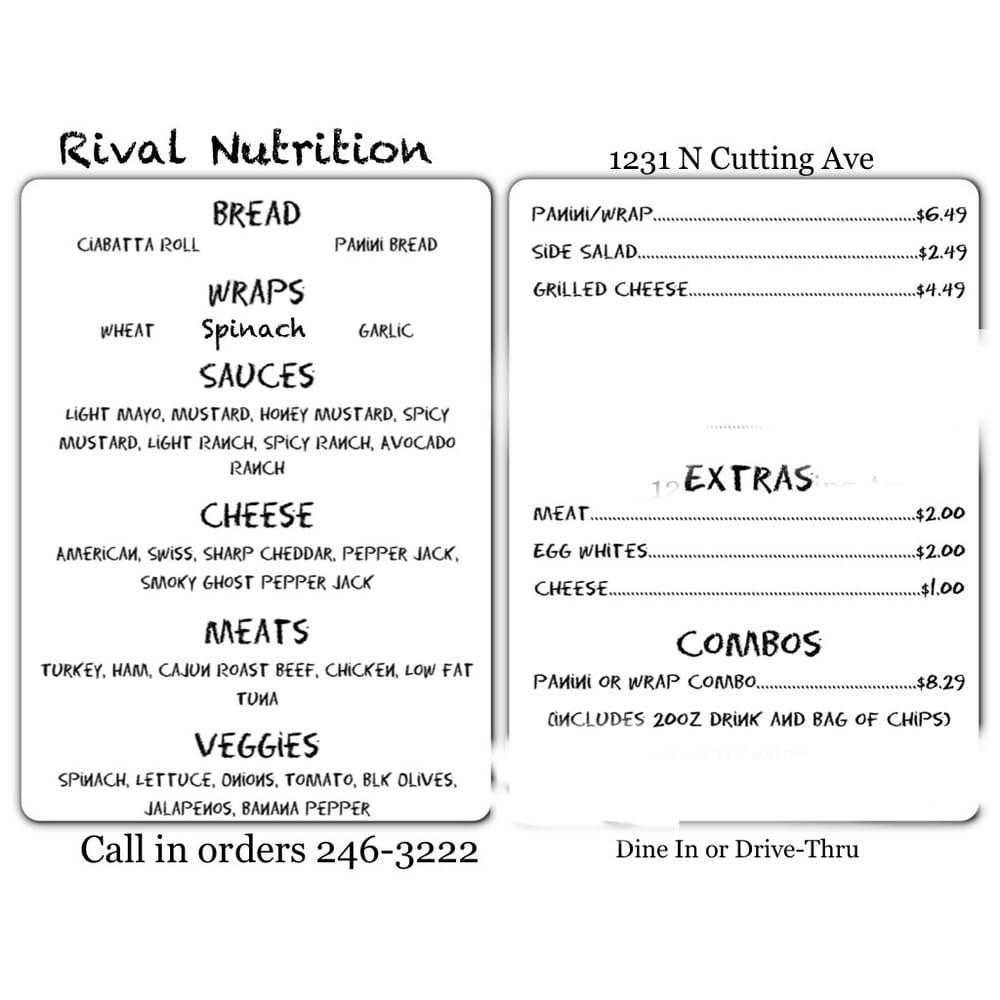 Rival Nutrition: 1231 N Cutting Ave, Jennings, LA