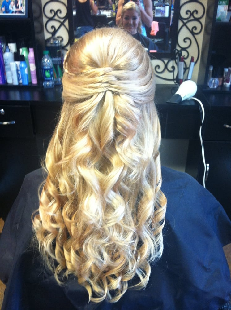 Prom Half Updo Style With Curls Yelp