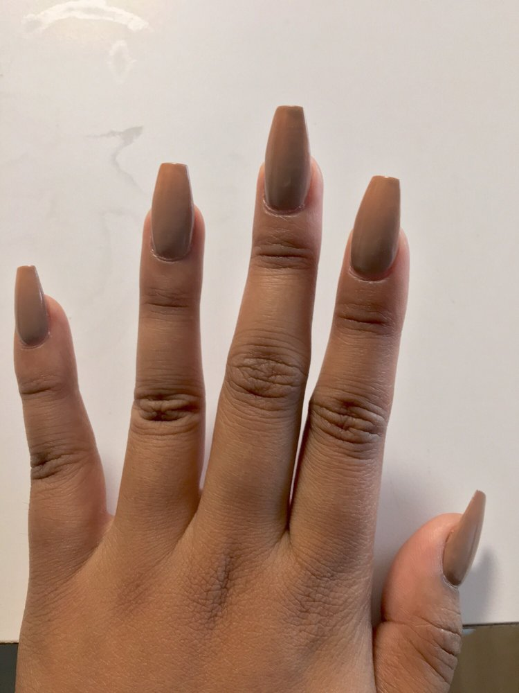 coffin nails, nude polish. they have more colors to choose from! - Yelp
