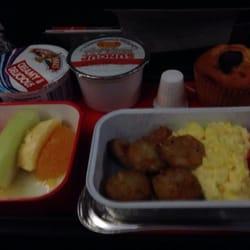 Qantas airways los angeles ca united states hash browns eggs