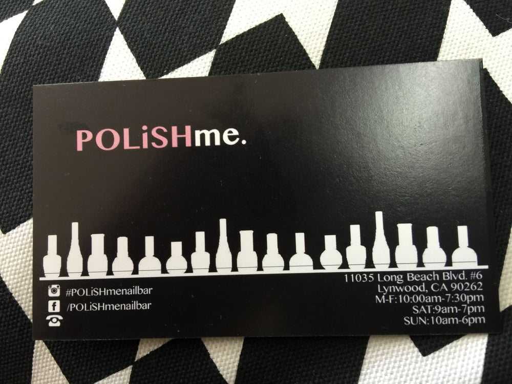 Business card. Find them on Instagram #polishmenailbar and on ...