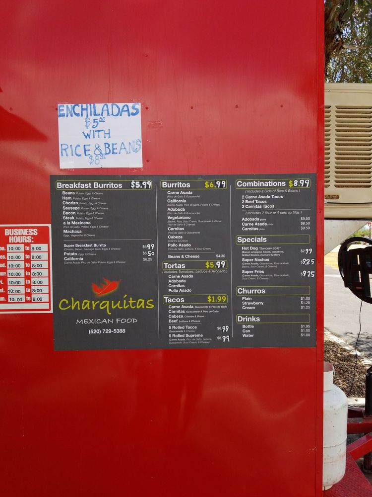 Charquitas Mexican Food: Corona de Tucson, AZ