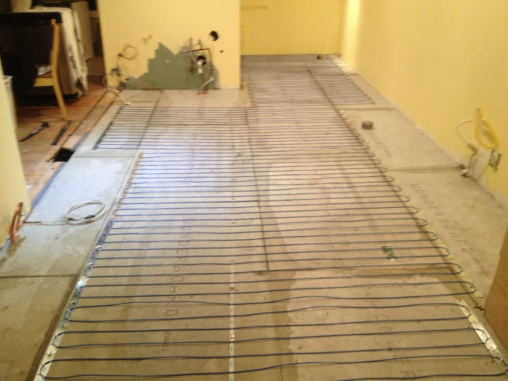 In Floor King Electric Heating Cable Installation Warm Tile Floors