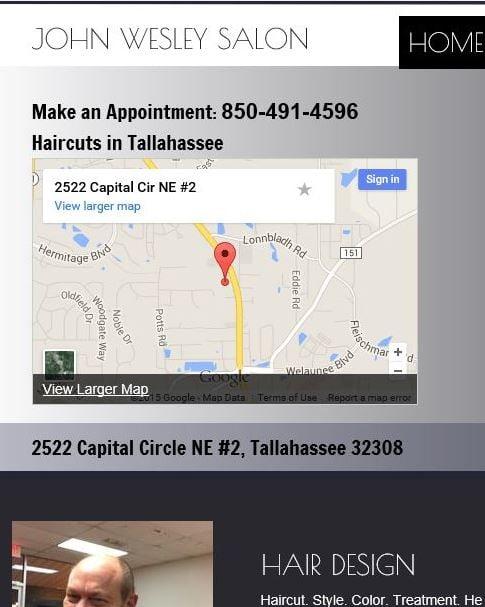 John Wesley Salon Hair Stylists 2522 Capital Cir Ne Tallahassee Fl Phone Number Yelp