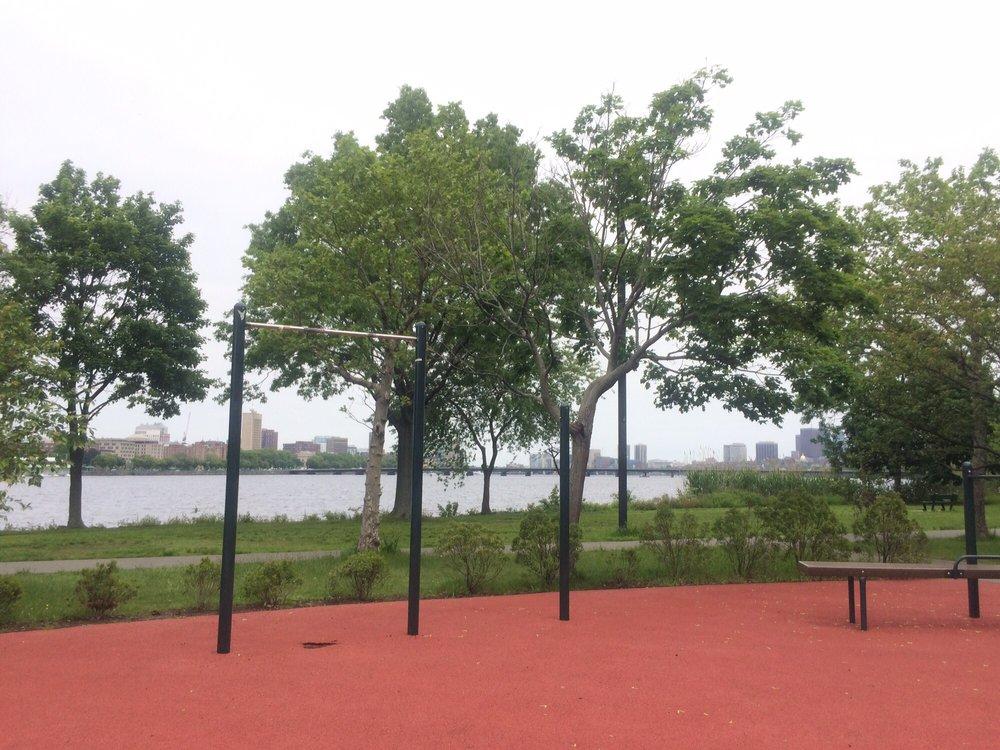Photo Of The Esplanade Boston Ma United States Outdoor Gym Along