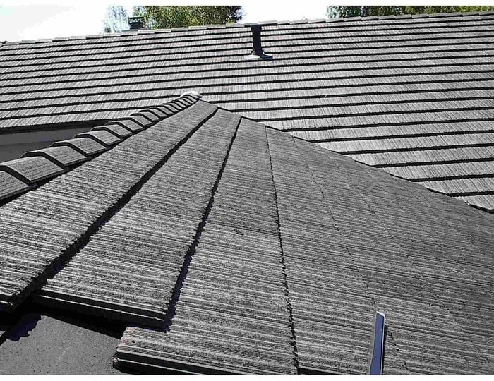 Orange county concrete tile roofing repair monier for Flat tile roof