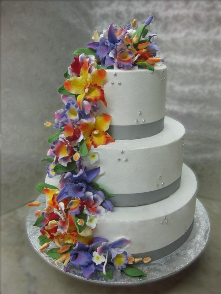 Tropical Flower Wedding Cake Yelp