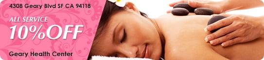 Geary Healthy massage: San Francisco, CA