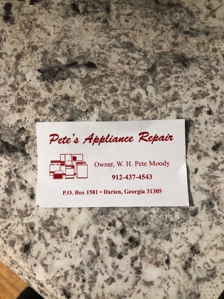Pete's Appliance Repair: Darien, GA