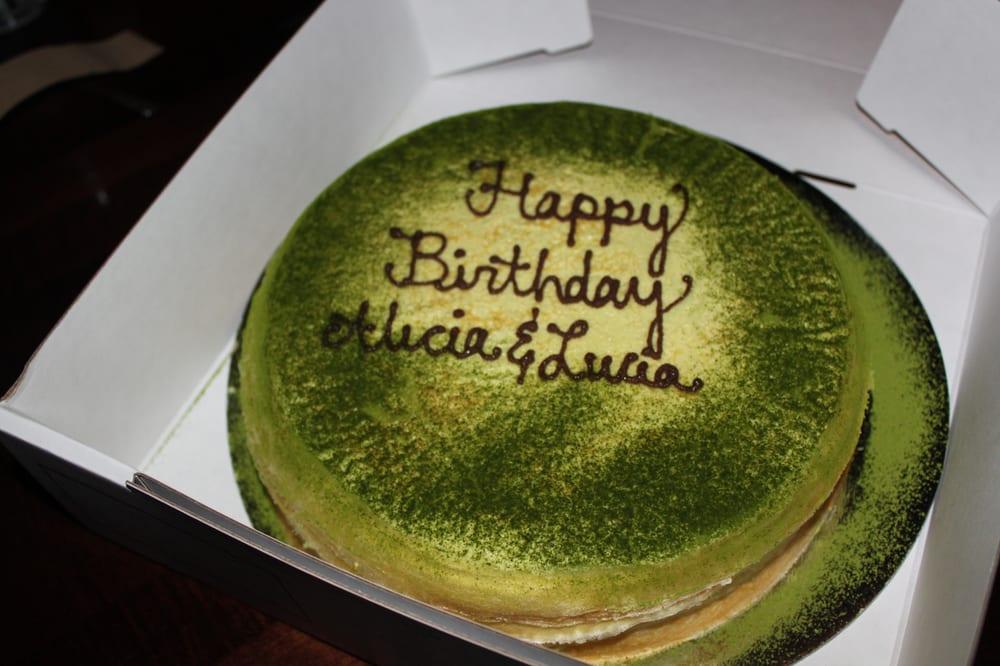 $85 9-inch green tea mille crepe birthday cake - not worth it): - Yelp