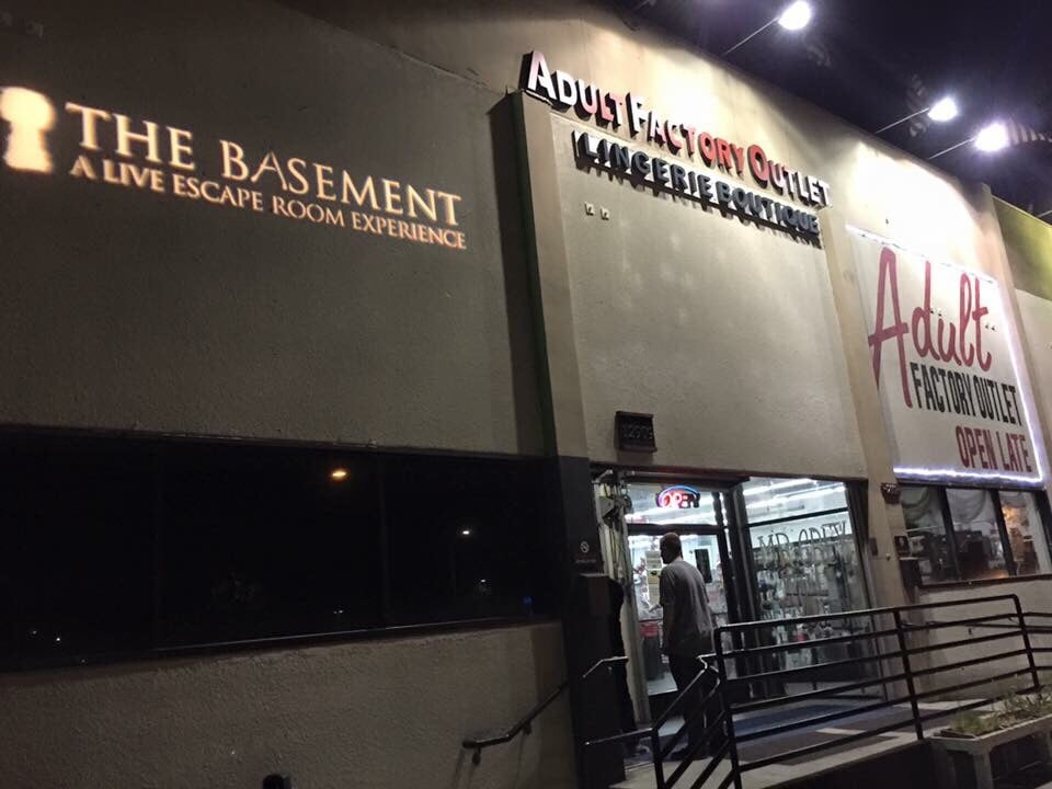 Front of building yelp for The basement a live escape room experience events