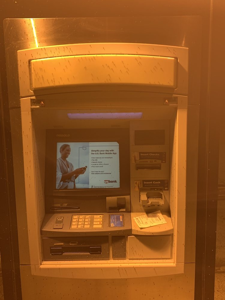 The atm is infested with bugs, I think they are mosquitoes