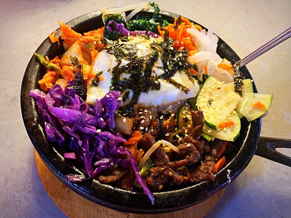 Food from I-Ho's Korean Grill