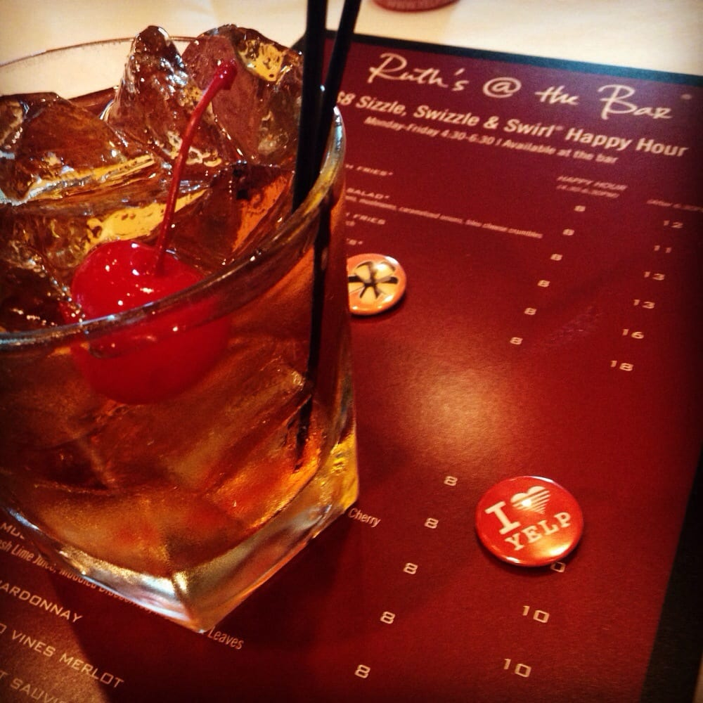 a jack daniels manhattan at the yelp sizzle swizzle and swirl