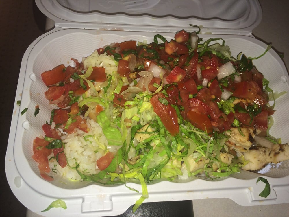 Baja fish taco chicken baja bowl definitely a 2 for Baja fish tacos menu
