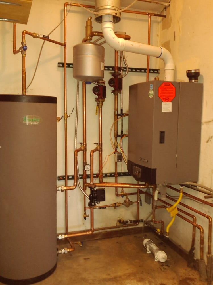 Wall Hung Hi efficiency boiler and side arm water heater for Douglas ...