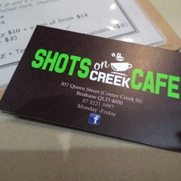 Shots on creek cafe 18 photos coffee tea shops 307 queen st business card reheart Choice Image