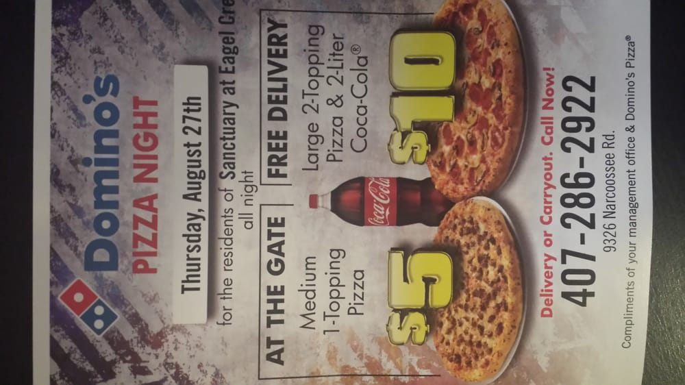 Domino's Pizza - 15 Reviews - Pizza - 9306 Narcoossee Rd