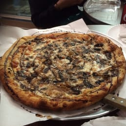 Crust - Cleveland, OH, United States. Large Mixed Mushroom Pizza - can you smell the truffle oil?