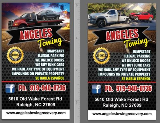 Angeles towing and Roadside Assistance 5610 Old Wake Forest Rd