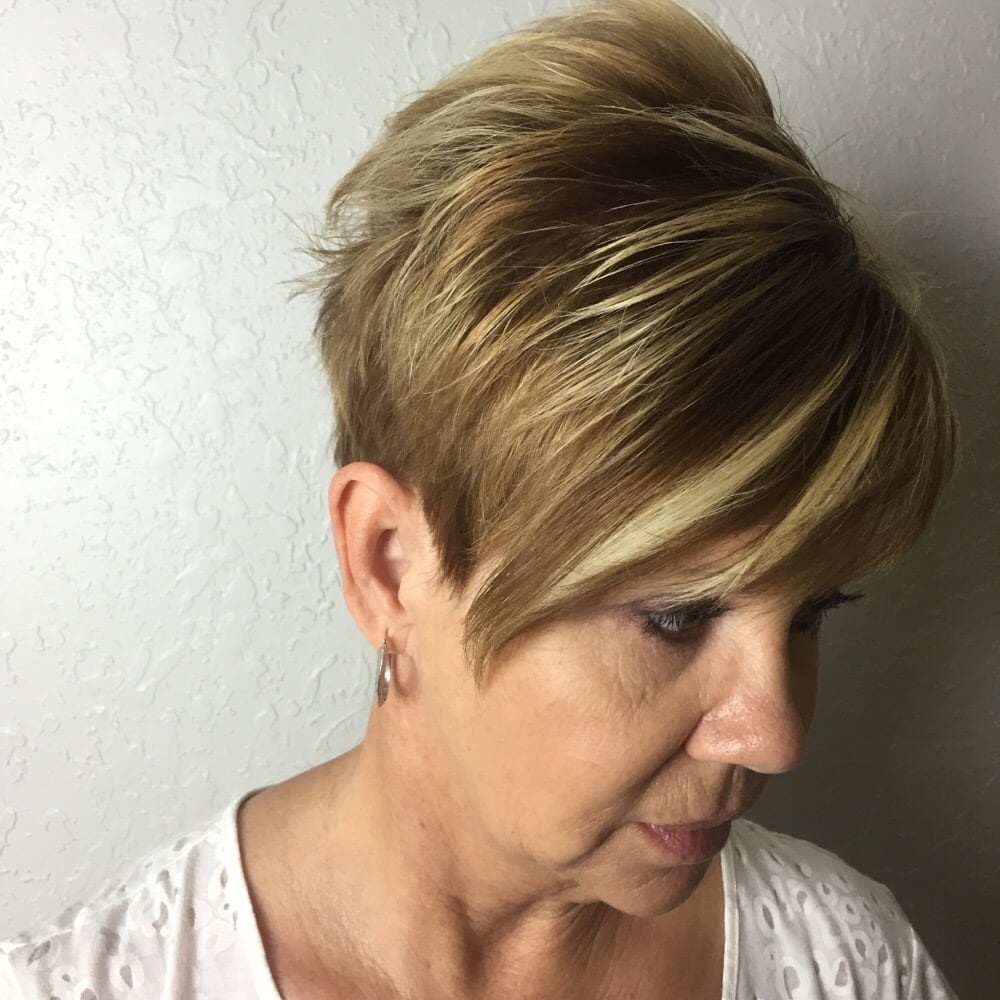 Pixie Haircut With Highlights And Lowlights By Margaret Yelp