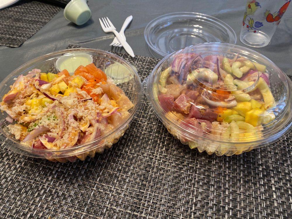 Food from Big Bang Sushi & Poke