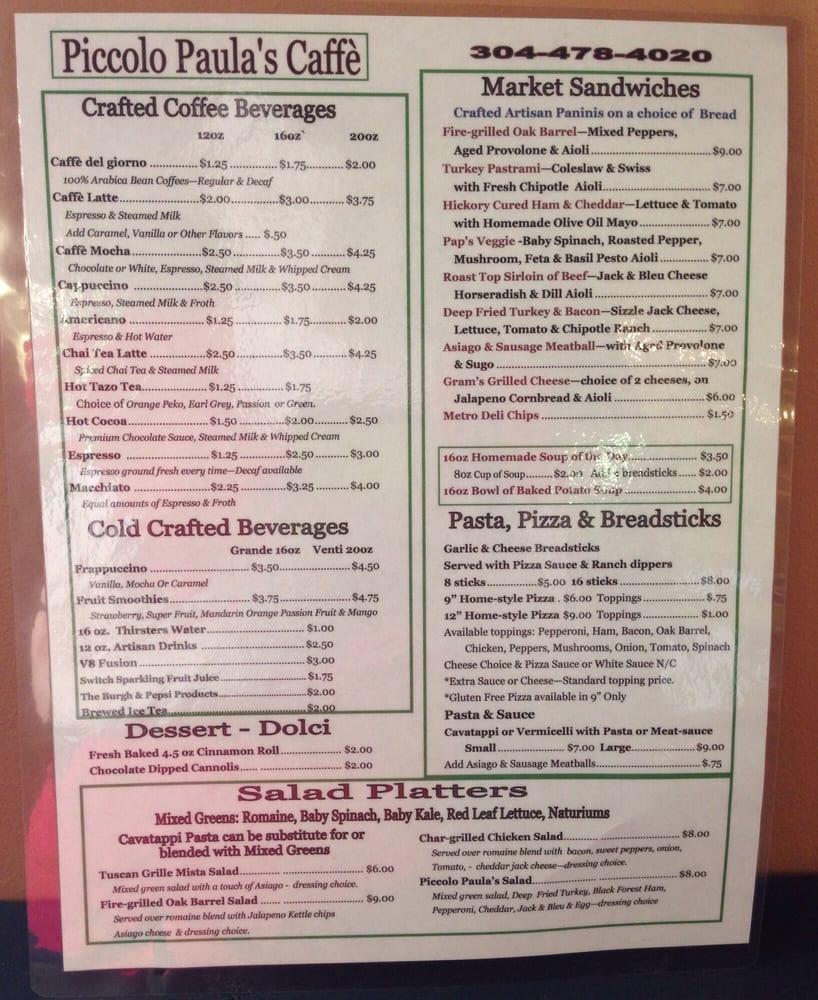 Piccolo Paulas Caffé: 104 Walnut St, Parsons, WV