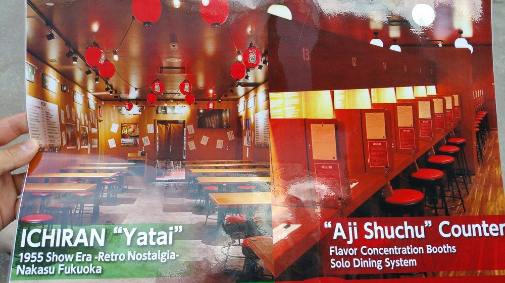 Photo of ICHIRAN - Brooklyn, NY, United States. Your dining options. The Yatai gets seated way faster than the booth