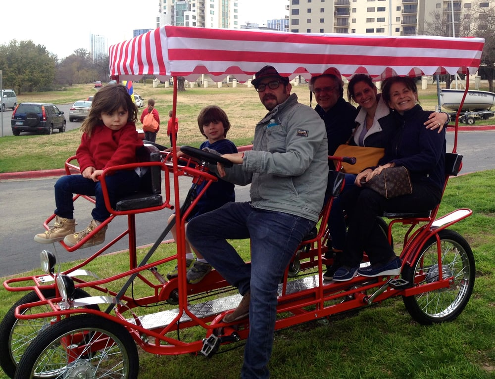 An Adorable Family Renting A 6 Person Surrey Bike Yelp