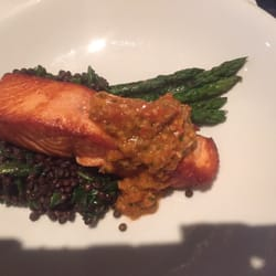 Photo of Divino - Houston, TX, United States. Salmon and lentils