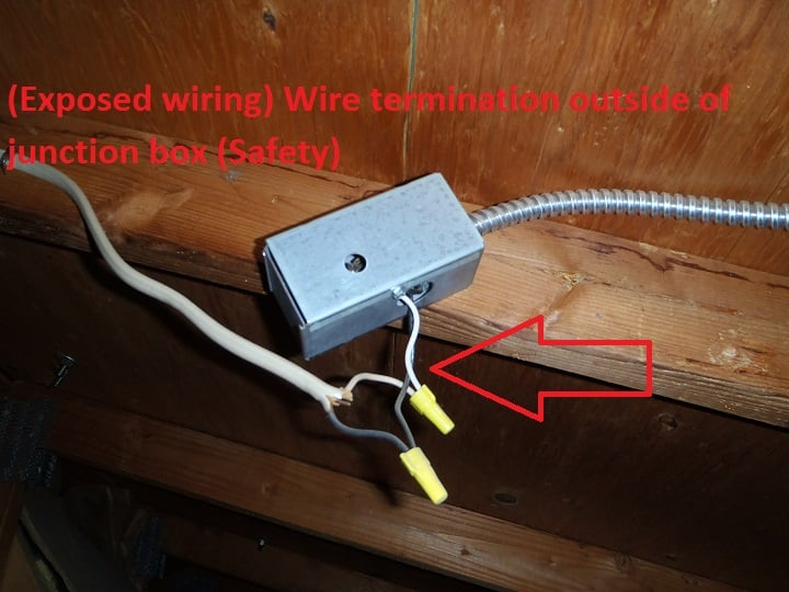 o Exposed Wiring on