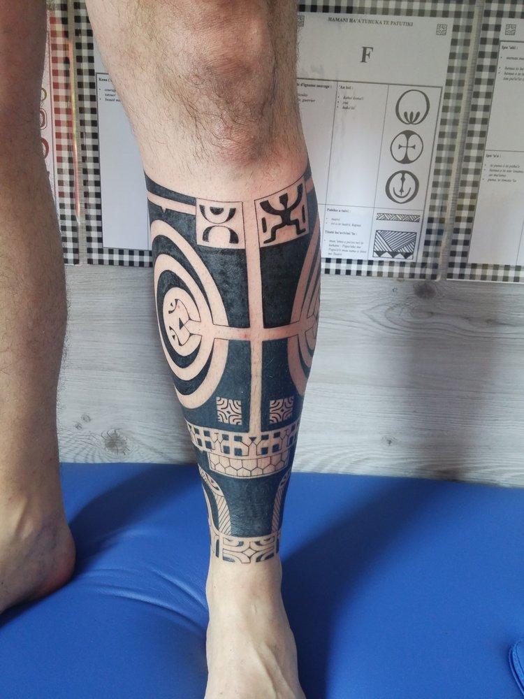 Hakutoa Tatto Tatouages Polynesiens Homme Mollet Jambe Yelp