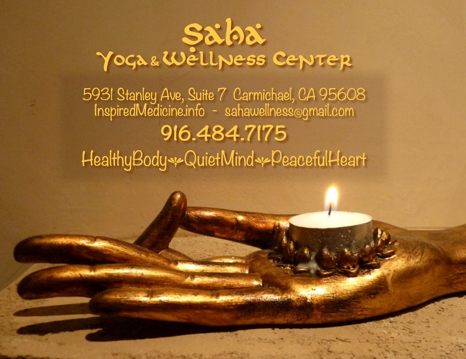 SAHA Yoga and Wellness Center: 5931 Stanley Ave, Carmichael, CA