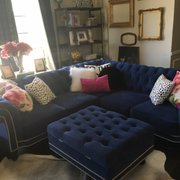 Incroyable ... Photo Of Monarch Sofas   Dallas, TX, United States. Blue Tufted Velvet  Nailhead ...