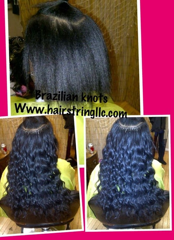 Full Head Of Brazilian Knots Done With Brazilian Hair Yelp