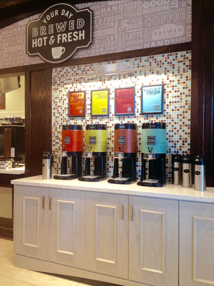 The Self Serve Coffee Station At Corner Bakery Yelp