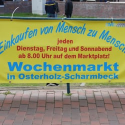Wochenmarkt Osterholz Scharmbeck Shopping Marktplatz Osterholz